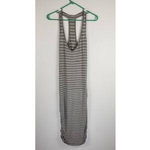 Athleta Gray/Cream Striped Dress Sz S